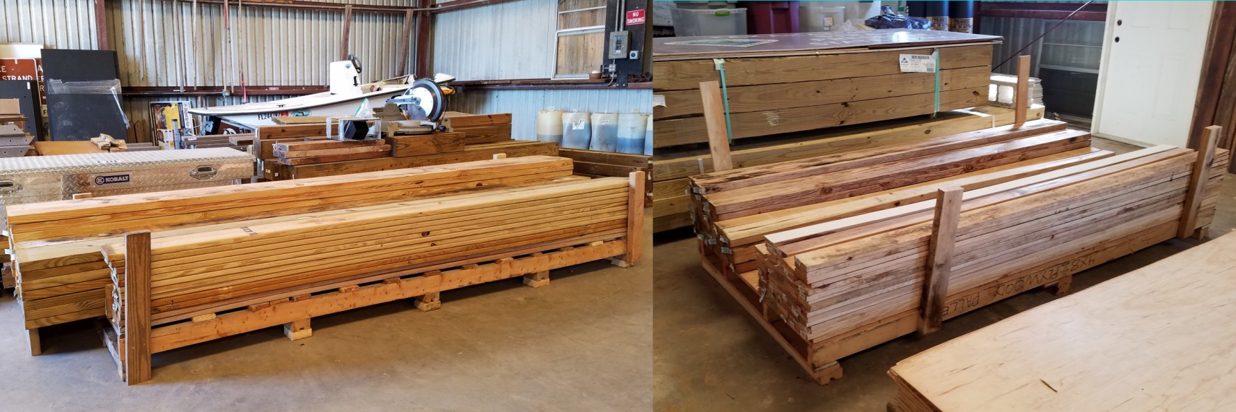 Harman Building Restacked Lumber